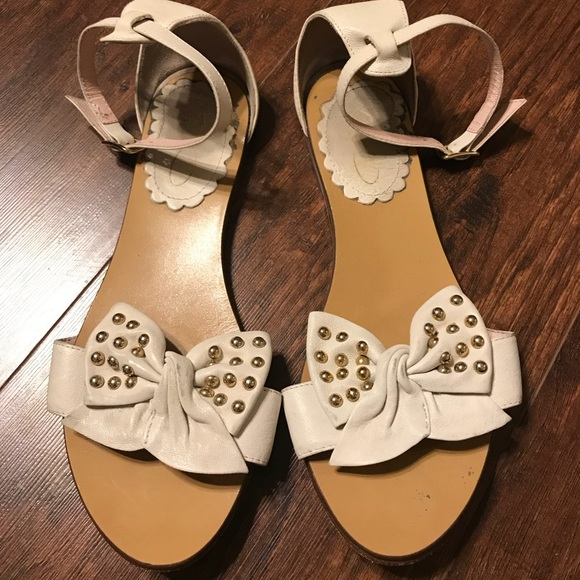 3131dd2eaa15 RED Valentino Studded Bow Sandals Sz 36.5. M 5aa5762d9d20f0161ed82185